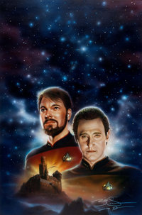 Keith Birdsong Star Trek: The Next Generation #28: Here There Be Dragons Paperback Novel Cover Painting Original A