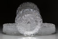 Art Glass:Lalique, Twelve Lalique Frosted Glass Chene Plates, post-1945. Marks:Lalique, France. 9 inches diameter (22.9 cm). ... (Total: 12Items)