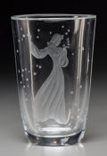Art Glass:Other , An Orrefors Intaglio Glass Figural Vase, Orrefors, Sweden, circa1950. Marks: Orrefors, (effaced mark), 2474. 036.9...