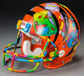 Post-War & Contemporary:Contemporary, Peter Max (American, b. 1937). 1995 Super Bowl, CincinnatiBengels. Hand-painted football helmet commissioned by theNFL...