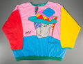 "Post-War & Contemporary:Contemporary, Peter Max (American, b. 1937). Long-sleeve sweatshirt(reversible print), featuring Max's ""Zero Man"" artwork, circalate..."