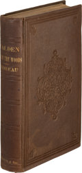 Books:Literature Pre-1900, Henry David Thoreau. Walden; Or, Life in the Woods.Boston: Ticknor and Fields, 1854. First edition....