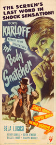 "Movie Posters:Horror, The Body Snatcher (RKO, 1945). Insert (14"" X 36"").. ..."