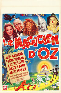 """The Wizard of Oz (MGM, 1946). First Post-War Release Belgian (14"""" X 21.25"""")"""