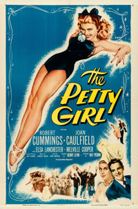 "The Petty Girl (Columbia, R-1955). One Sheet (27"" X 41""). George Petty Artwork"