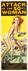 "Movie Posters:Science Fiction, Attack of the 50 Foot Woman (Allied Artists, 1958). Insert (14"" X36"") Reynold Brown Artwork.. ..."