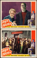 "Movie Posters:Horror, House of Dracula (Realart, R-1950). Lobby Cards (2) (11"" X 14"")..... (Total: 2 Items)"