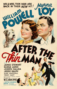 "After the Thin Man (MGM, 1936). One Sheet (27"" X 41"") Style D, Vincentini (Ted Ireland) Artwork"