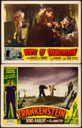 """Movie Posters:Horror, Frankenstein & Other Lot (Realart, R-1951). Lobby Cards (2) (11"""" X 14"""").. ... (Total: 2 Items)"""