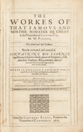 Books:Religion & Theology, [John Eliot]. William Perkins. The Works of the Famous andWorthie Minister of Christ in the Universitie of Cambridge, M...(Total: 2 Items)
