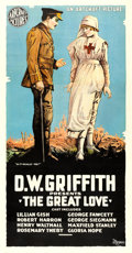 "Movie Posters:War, The Great Love (Artcraft, 1918). Three Sheet (42"" X 80"").. ..."