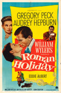 "Movie Posters:Romance, Roman Holiday (Paramount, 1953). One Sheet (27"" X 41"").. ..."