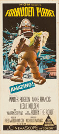 "Movie Posters:Science Fiction, Forbidden Planet (MGM, 1956). Australian Daybill (13.5"" X 30"")....."
