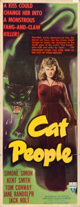 "Movie Posters:Horror, Cat People (RKO, 1942). Insert (14"" X 36"").. ..."