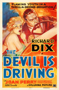 "Movie Posters:Crime, The Devil is Driving (Columbia, 1937). One Sheet (27"" X 41"") StyleA.. ..."