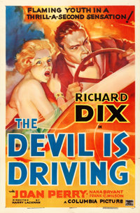 """The Devil is Driving (Columbia, 1937). One Sheet (27"""" X 41"""") Style A"""