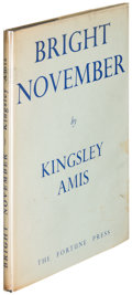 Books:Literature 1900-up, Kingsley Amis. Bright November. London: [no date, 1947].First edition of the author's first book....