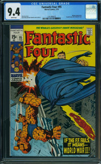 Fantastic Four #95 (Marvel, 1970) CGC NM 9.4 White pages