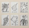 Works on Paper, Jogen Chowdhury (Indian, b. 1939). Set of Six Botanical Drawings, 1999. Charcoal on paper. 7-3/8 x 5-1/4 inches (18.7 x ...