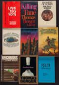 Books:Literature 1900-up, Thomas Berger. Group of Nine Inscribed Books. New York:[1964-1983]. First editions, one being an uncorrected proof....(Total: 9 Items)
