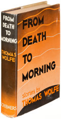 Books:Literature 1900-up, Thomas Wolfe. From Death to Morning. New York: 1935. Firstedition....