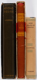 Books:Literature 1900-up, [Harpo Marx]. Group of Three Books from the Library of Harpo Marx.New York: [1932-1935]. First editions, two limited issues...(Total: 3 Items)