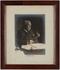Books:Literature 1900-up, [William Dean Howells]. Signed Portrait. New York: Brown Brothers,[circa 1920]. Signed below photograph, matted and framed....