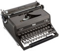 Books:Furniture & Accessories, [Mickey Spillane]. Mickey Spillane's Royal Quiet De Luxe PortableManual Typewriter. Circa 1949....