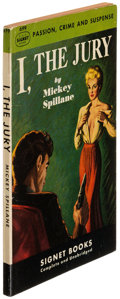 Books:Mystery & Detective Fiction, Mickey Spillane. I, the Jury. [New York]: [1949]. Secondprinting, signed....