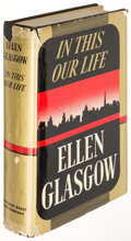 Books:Fiction, Ellen Glasgow. In This Our Life. New York: [1941]. Firstedition of her Pulitzer-Prize winning novel, inscribed....