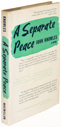 Books:Literature 1900-up, John Knowles. A Separate Peace. New York: 1960. Firstedition, second-issue dust jacket, signed....