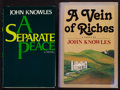 Books:Literature 1900-up, John Knowles. Pair of Books Inscribed to the Family of JamesJones. New York: [1974-1978]. Mixed editions.... (Total: 2Items)