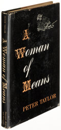 Books:Fiction, Peter Taylor. A Woman of Means. New York: [1950]. Firstedition of the author's first novel, signed....