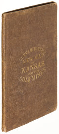 Books:Maps & Atlases, Gunn and Mitchell. New Map of Kansas and the Gold Mines. Lawrence: 1867. Sixth and final edition....