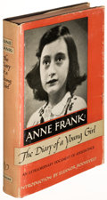 Books:Biography & Memoir, Anne Frank. The Diary of a Young Girl. Garden City: 1952.First U. S. edition....