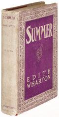Books:Literature 1900-up, Edith Wharton. Summer. New York: 1917. First edition....