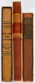 Books:Literature 1900-up, Erskine Caldwell. Group of Three Viking Books. New York:[1933-1935]. First editions, limited issues, two signed.. ...(Total: 3 Items)