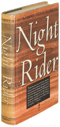 Books:Literature 1900-up, Robert Penn Warren. Night Rider. Boston: 1939. First editionof the author's first novel....