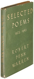 Books:Literature 1900-up, Robert Penn Warren. Selected Poems 1923-1943. New York: [1944]. First edition, inscribed....