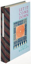Books:Literature 1900-up, Paul Bowles. Let It Come Down. Santa Barbara: 1980. SecondU. S. edition, limited, signed....