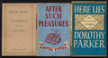 Books:Literature 1900-up, Dorothy Parker. Group of Three Viking Books. New York: 1930-1939.First editions.... (Total: 3 Items)