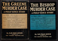 Books:Mystery & Detective Fiction, S. S. Van Dine. Pair of Scribner's Philo Vance Novels. New York:[1928-1929]. First editions.... (Total: 2 Items)