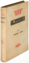 Books:Literature Pre-1900, Stephen Crane. Maggie. New York: 1896. First revised editionof the author's first published book....