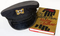 Books:Mystery & Detective Fiction, [Mickey Spillane]. Yacht Captain Hat Seen on Back of Dust Jacket of The Killing Man. Circa 1989.... (Total: 2 Items)