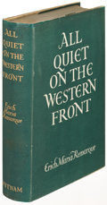 Books:Literature 1900-up, Erich Maria Remarque. All Quiet on the Western Front.London: [1929]. First English-language edition....