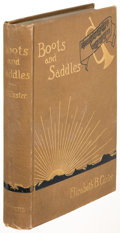 Books:Americana & American History, Elizabeth B. Custer. Boots and Saddles. New York: 1885.First edition. ...