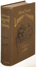 Books:Literature Pre-1900, Mark Twain. [William Dean Howells, editor]. Mark Twain's Libraryof Humor. New York: 1888. First edition....