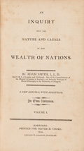 Books:Business & Economics, Adam Smith. Inquiry into ... the Wealth of Nations.Hartford: 1804. Third American edition.... (Total: 2 Items)