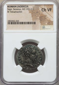 Ancients:Roman Provincial , Ancients: SYRIA. Laodicea. Septimius Severus (AD 193-211). BItetradrachm. NGC Choice VF....