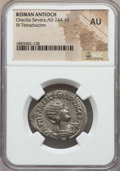 Ancients:Roman Provincial , Ancients: SYRIA. Antioch. Otacilia Severa (AD 244-249). BItetradrachm. NGC AU....